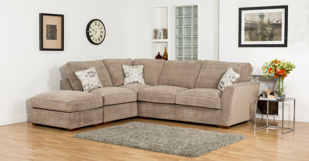 Fantasia 2 by 1 Seater with Footstool Left Hand Facing Standard Back Corner Group