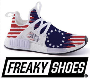 New Betsy Ross Flag shoe line is out by Freaky Shoes!