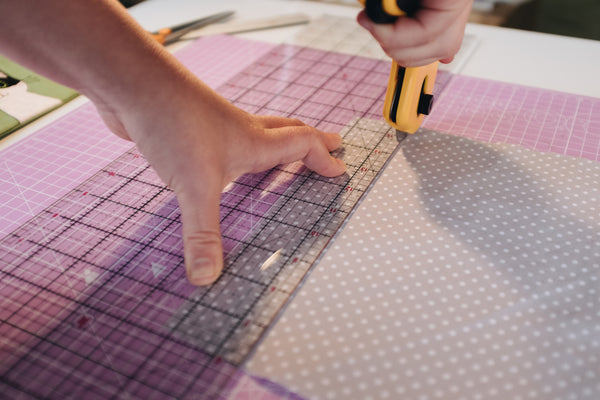 How to cut fabric with a rotary cutter