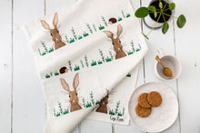 Load image into Gallery viewer, Hare & Hedgehog Tea Towel
