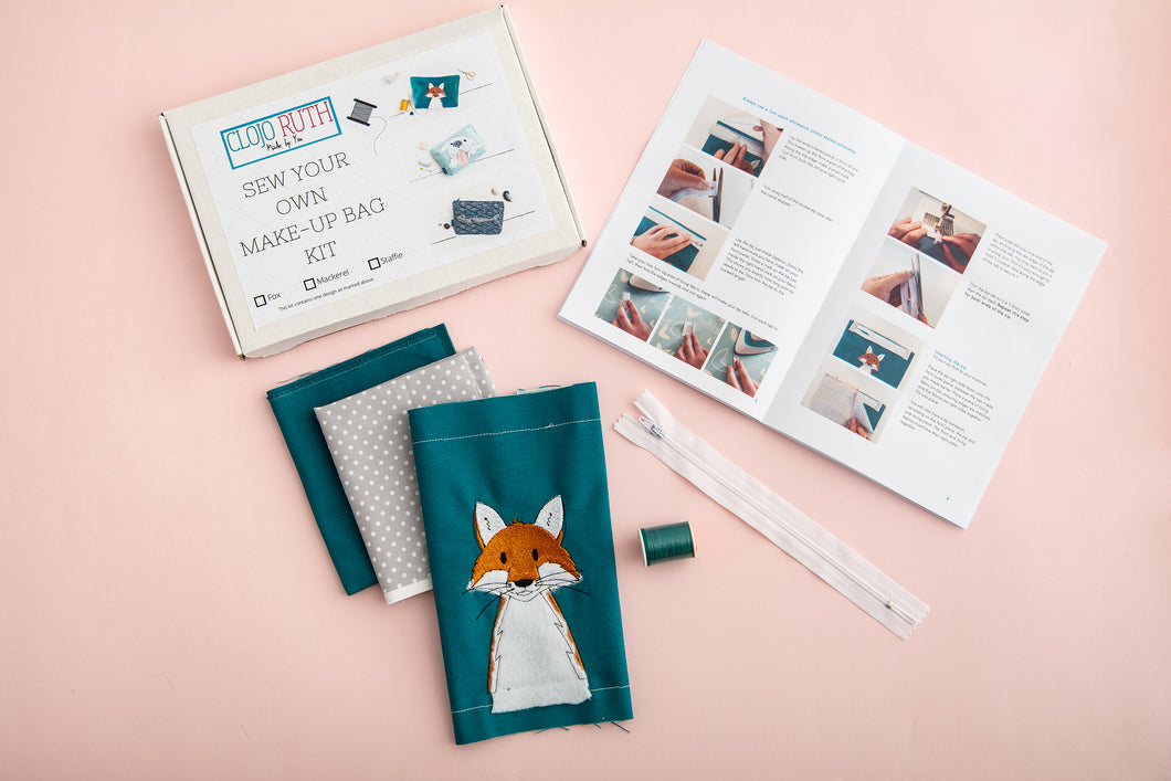 Sew your own make-up bag kit