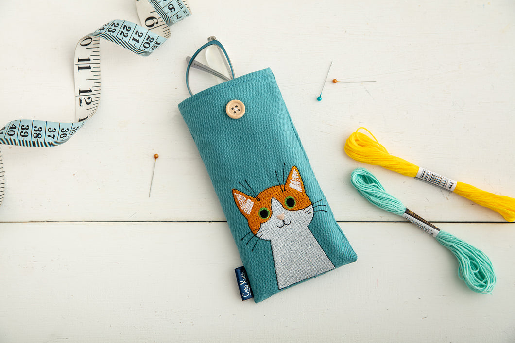 Ginger Cat Glasses Case