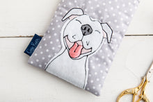 Load image into Gallery viewer, Staffy Glasses Case Grey