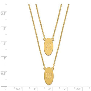 2-Strand Stacked Oval Initial Necklace
