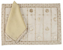 Load image into Gallery viewer, Nirvana Mat and Napkin, set of 4
