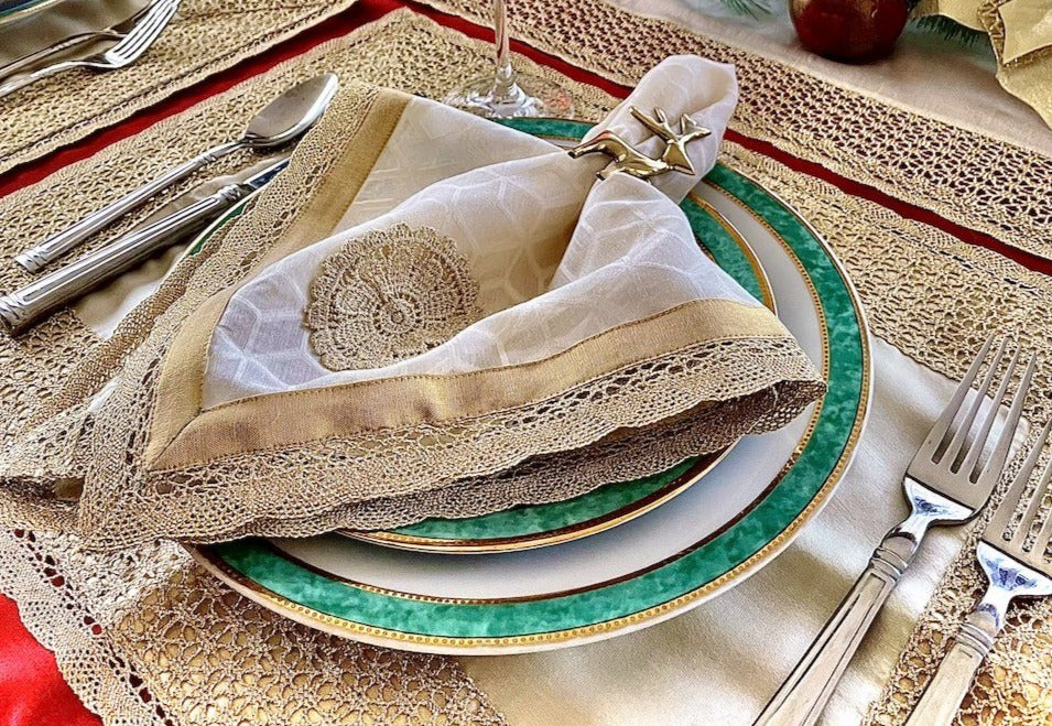 Chalice Mat and Napkin, Set of 4