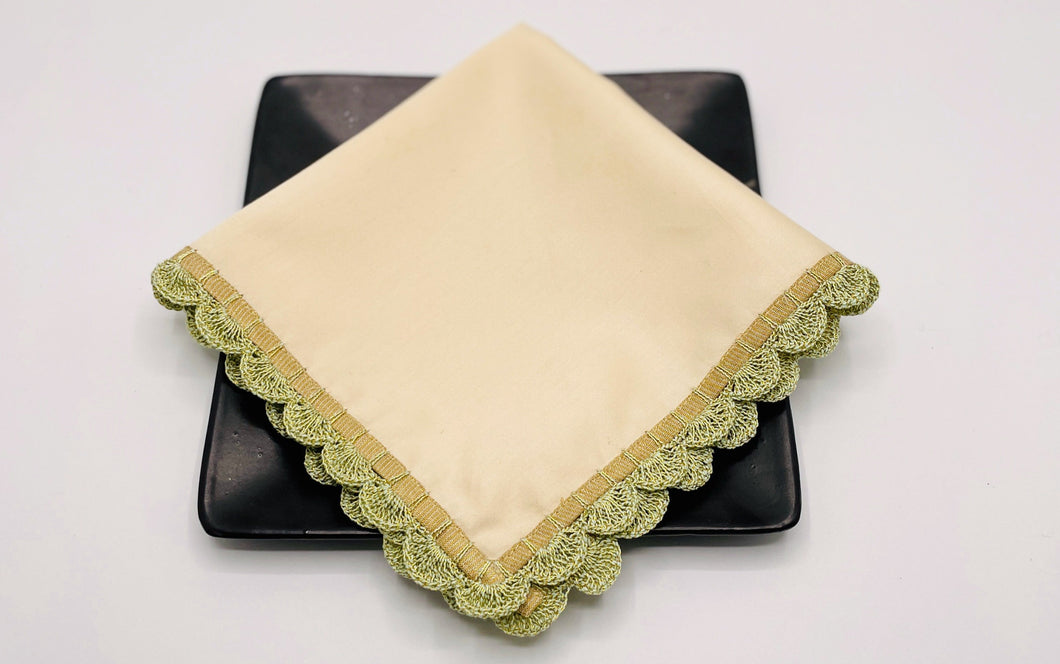 Medley cocktail napkins (Vanilla & Fern), set of 2