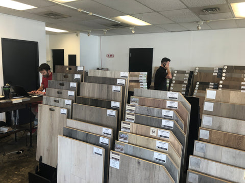 flooring sample and display boards Word of Mouth Floors