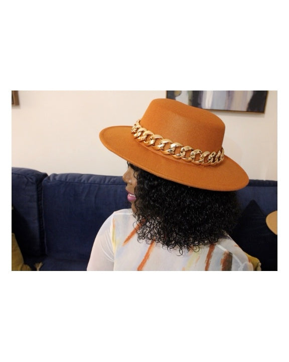 Ginger Gold Chain Hat