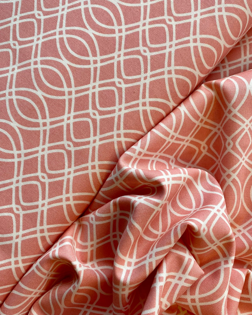 Art Gallery Fabrics Knotted Trellis Parfait Cotton From Bloomsbury Cotton Fabric