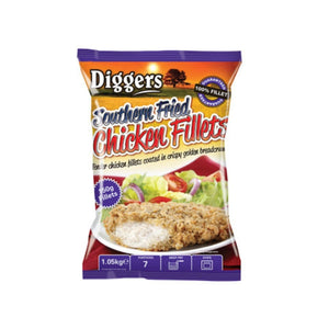 Diggers Southern Fried Chicken Fillet 1 Kg - CMKfoods
