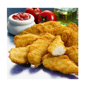 Battered Chicken Goujon 2.5Kg (Blue Bag) - CMKfoods
