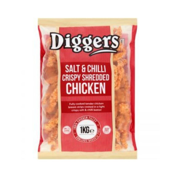 Diggers Salt and Chilli Shredded Chicken 1 Kg - CMKfoods