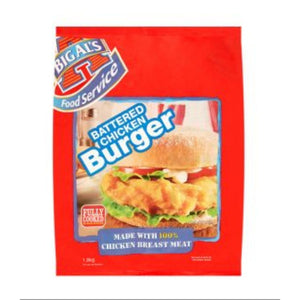 Big Al's Battered Chicken Burger 2.5Kg - CMKfoods
