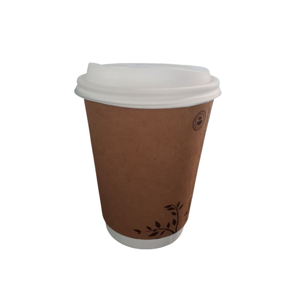 12oz Double Wall Compostable Hot Cup - CMKfoods