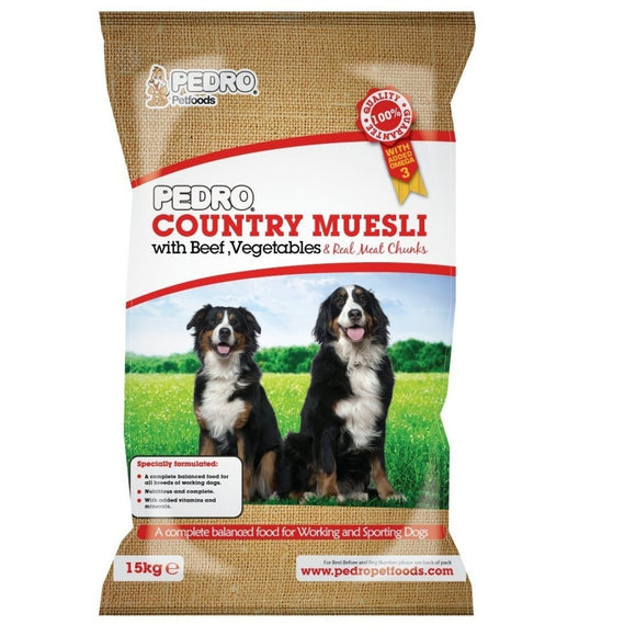 Pedro Country Muesli Mix with Beef 15kg - CMKfoods