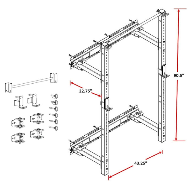 Storm Series Wall Mount Rack Dims