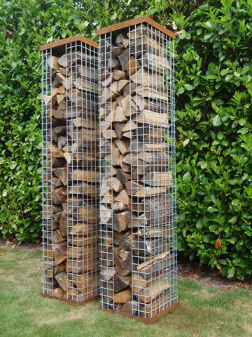 Zeno NETS Wood storage - Cortenstaal