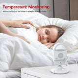 "Victure Video Baby Monitor with Camera Night Vision 2.4"" LCD Screen Digital Cam 2.4GHz Wireless Transmission Two Way Talk Temperature Sensor VOX Auto Wake-up and Lullabies"