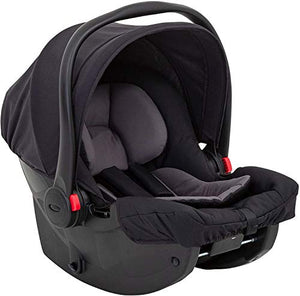 Graco SnugEssentials i-Size Infant Car Seat (Birth to 12 Months Approx, 40-75cm), ISOFIX Base Compatible, Black/Grey