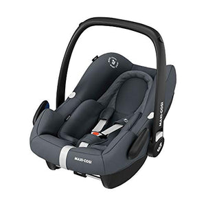 Maxi-Cosi Rock Baby Car Seat Group 0+, ISOFIX, i-Size Car Seat, Rearward-Facing, 0-12 m, 0-13 kg, Essential Graphite