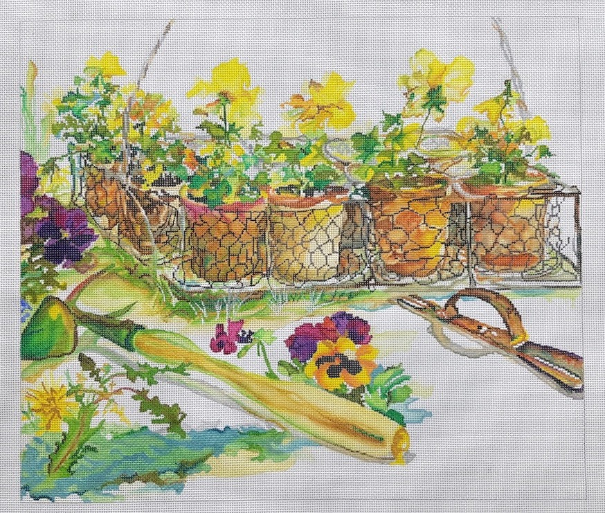 Pansy Wire Pots