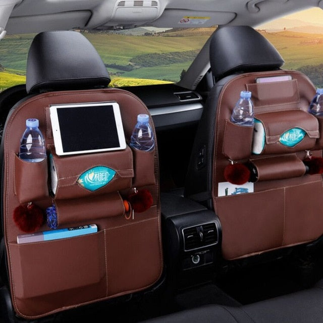 Universal PU Leather Car Back Seat Multifunction storage