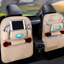 Load image into Gallery viewer, Universal PU Leather Car Back Seat Multifunction storage