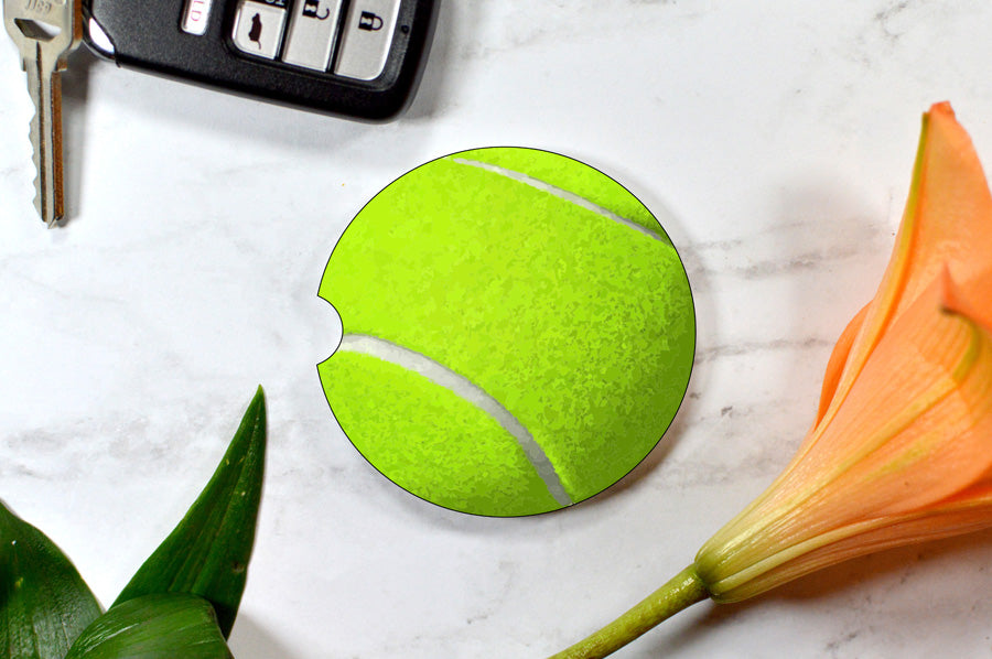Car Coaster: Tennis Ball