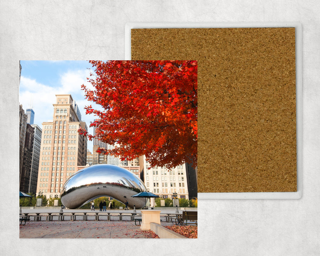 Sandstone Coaster: Chicago Cloudgate