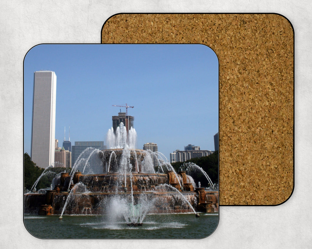 Hardboard Coaster: Chicago Buckingham Fountain