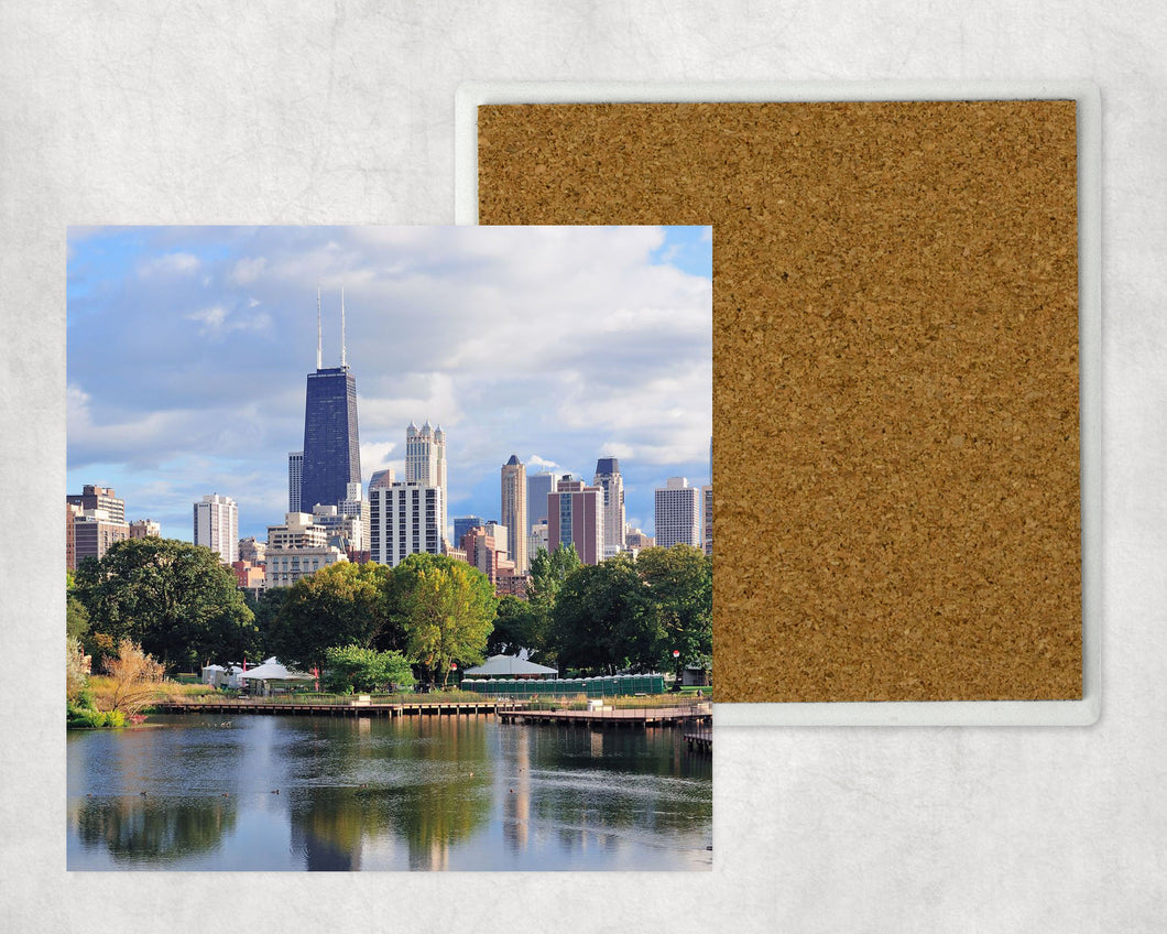 Sandstone Coaster: Chicago Hancock Skyline
