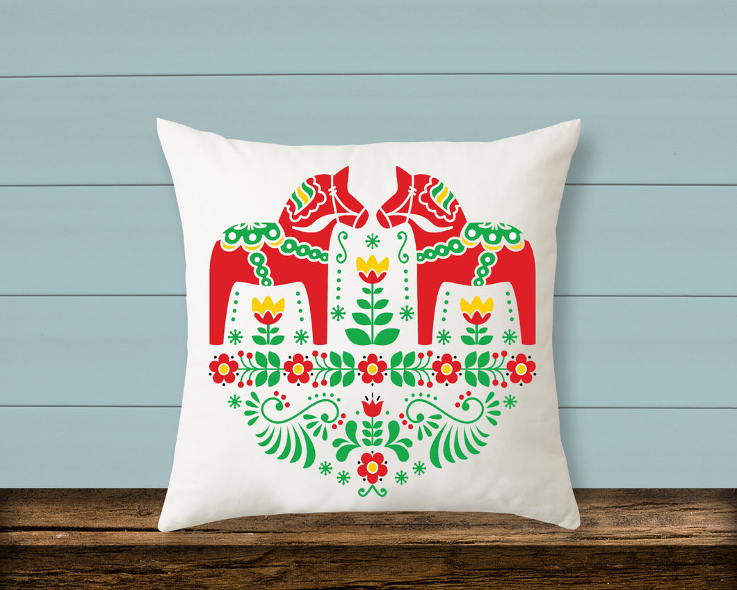 Pillow: Swedish Dala Horse