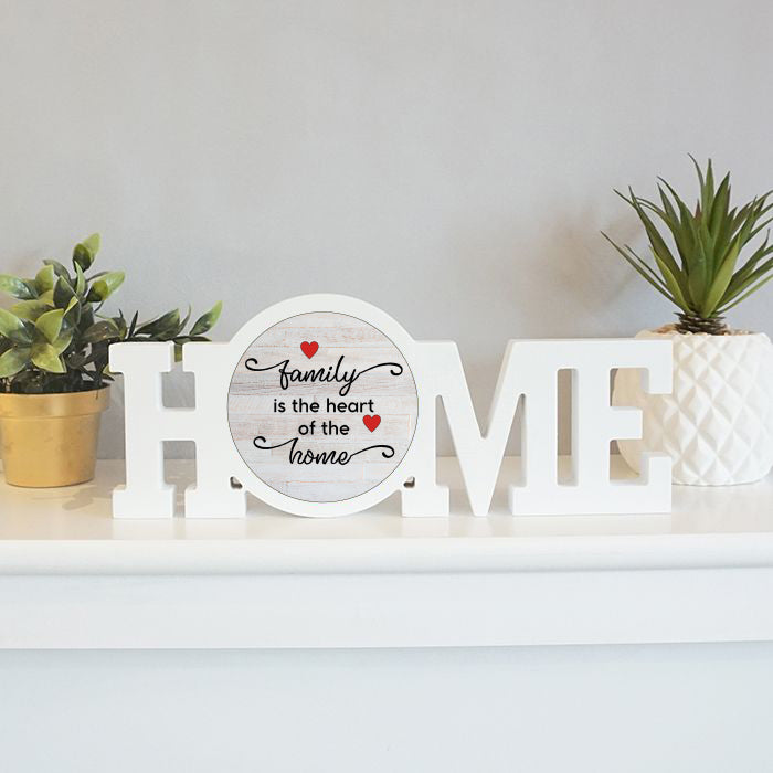 Home Sign: Family is the Heart
