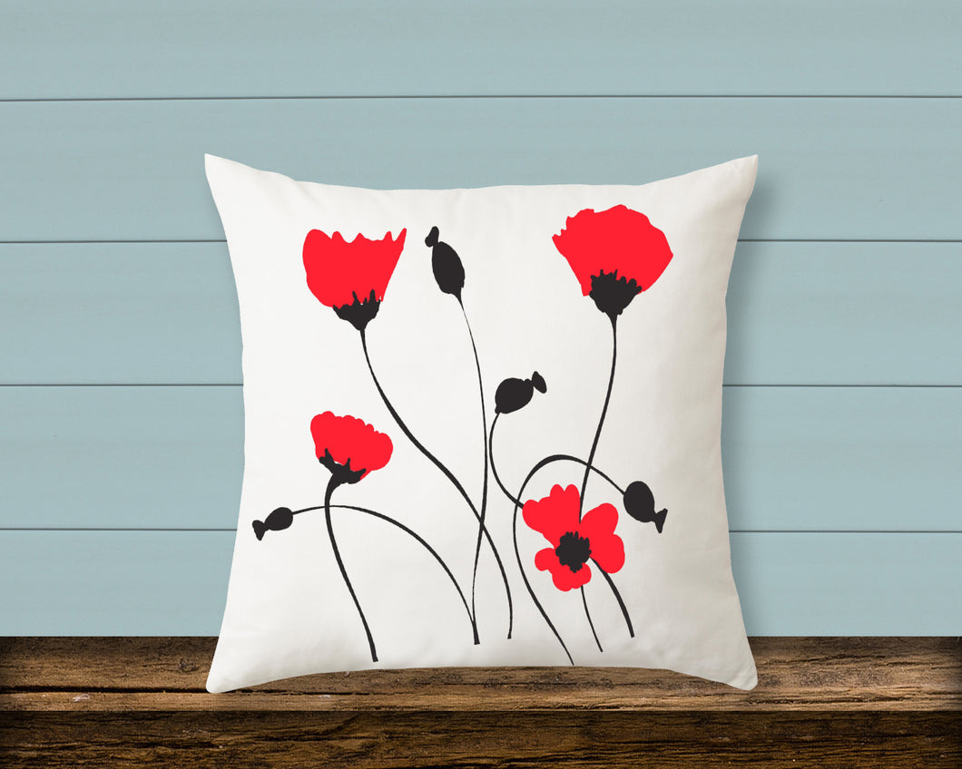Pillow: Poppies