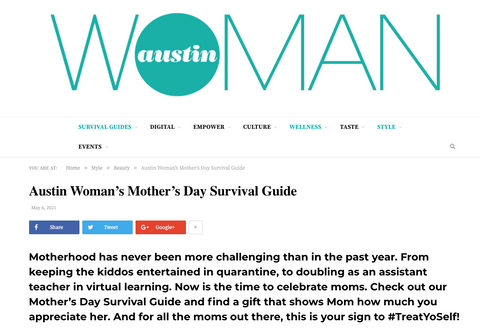 Austin Woman Magazine Mother's Day Survival Guide 2021