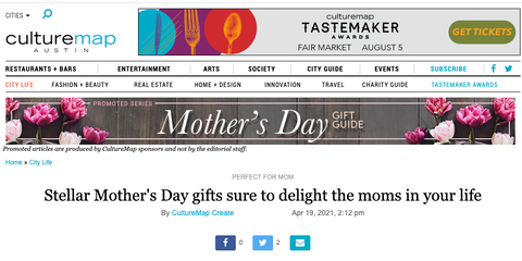 Culture Map Austin Mother's Day Gift Guide 2021