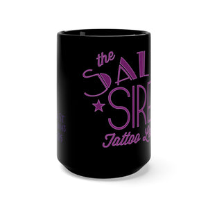 Black Salty Siren Mug 15oz