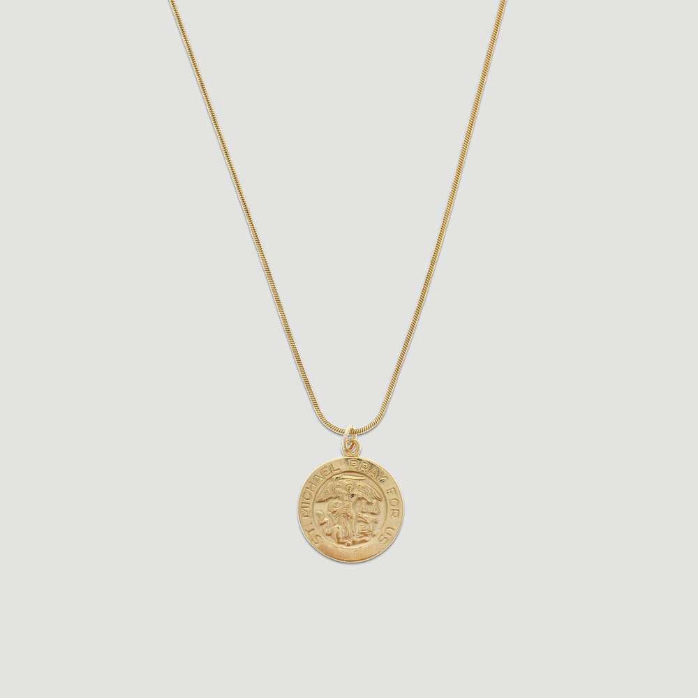 st. michael coin necklace