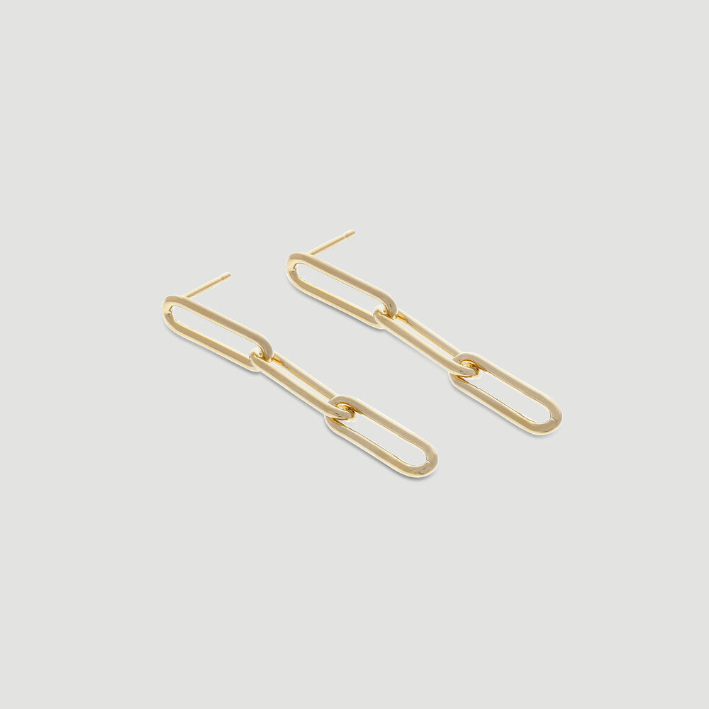 chunky paperclip earrings
