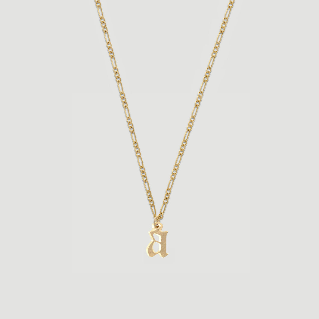 old english initial necklace 2.0