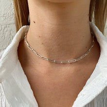 Load image into Gallery viewer, chunky paperclip choker