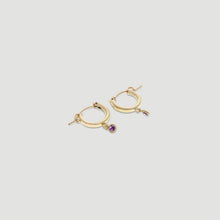 Load image into Gallery viewer, birthstone mini hoops - preorder