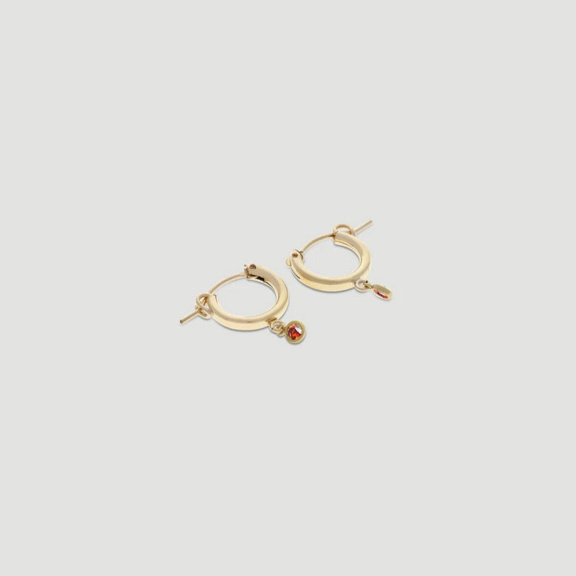 birthstone mini hoops - preorder
