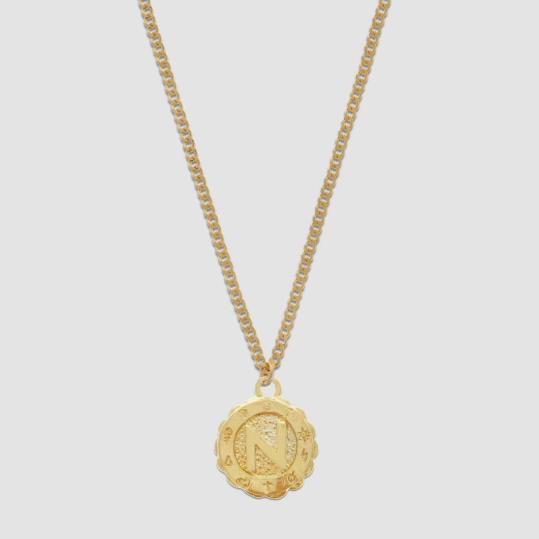 goddess initial necklace
