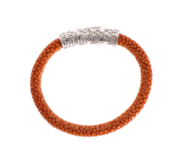 Orange Stingray 925 Bracelet
