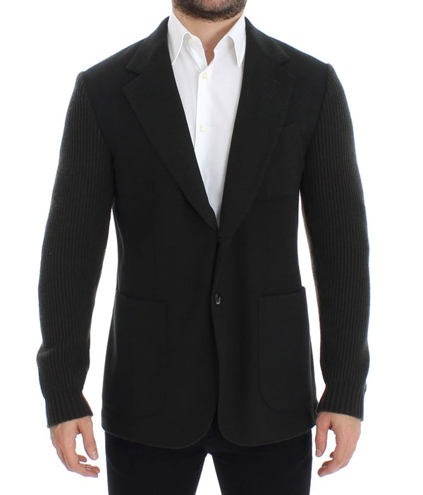 Green cashmere two button blazer