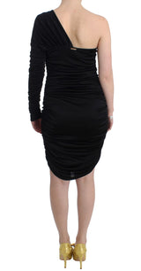 Black One Sleeve Pencil Dress