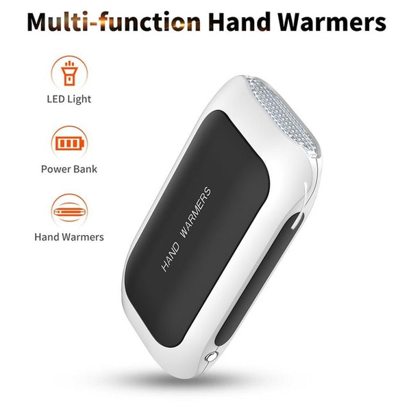 2020 Hand Warmers 5200mAh 5V USB Rechargeable LED Electric Hand Warmer Heater Travel Handy Long-Life Mini Pocket Warming Product