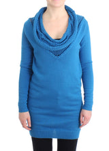 Blue scoopneck sweater